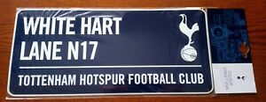 Official Blue Tottenham Hotspur Metal Street Sign (White Hart Lane) - FREE POST