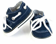 "Navy Canvas Boat Shoes  Boy made for 18"" American Girl Doll Clothes"