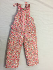 OSHKOSH GIRLS SNOW SKI BIBS OVERALLS PANTS SIZE 4