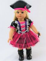 """Pink Pirate Halloween Costume Doll Clothes For 18"""" American Girl"""