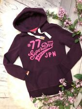 Superdry Angels Japan Purple Pink Hoodie Size Medium EUC