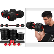 1 Pair 88 LB Weight Dumbbell Set Adjustable Cap Gym Barbell Plates Body Workout