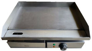 Davlex Commercial Steel Griddle Electric Flat Hotplate Burger Grill Fryer 550mm