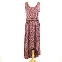 Cable & Gauge Women's Hi-Low Lightweight Sundress Pink/Purple Size L
