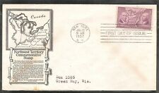 US SC # 795 Ordinance Of 1787 FDC. New York  Cancel . Anderson Cachet.