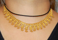 22K Solid Yellow Gold Chain Necklace 33.5gr Bridal Wedding 22KT Carat India NEW