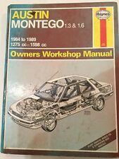 Haynes Owners Workshop Manual Austin Montego 1984 1989 Montego 84 89 Austin