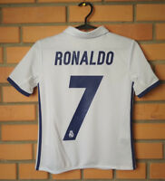 Real Madrid Jersey 2016 2017 Youth 9-10 Shirt Home Soccer Adidas Football Trikot