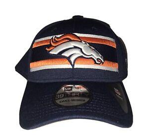 Denver Broncos NFL Hat - New Era 39Thirty Small-Medium Size Sideline Brand New