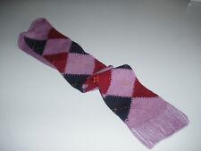 🇬🇧 Mens MERINO WOOL 7-12 LONG Plus Fours Argyle Golf Socks Purple/Red/Blue UK