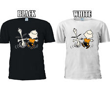 Snoopy And Charlie Brown Happy Cute T-shirt Baseball Vest Men Women Unisex 2644