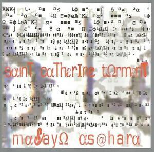 Masayo Asahara - Saint Catherine Torment 2005 Experimental CD Near Mint
