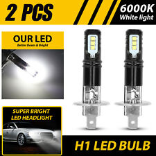 2PCS Xenon H1 Fog Light LED Headlight Bulbs 6000K High Low Beam 110W Super White