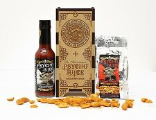 Psycho Juice Dark Arts Extreme Ghost Pepper Chilli Sauce & Hot Peanuts Gift Set