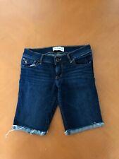 Girls Kid's Abercrombie Blue Denim Shorts Pockets Size 14 Cotton