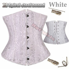 28 Steel Boned Tight Lace Up Underbust Waist Training Corset Trainer Body Shaper