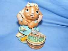 Pendelfin Stoneware Rabbit Moppit Blue Burnley England