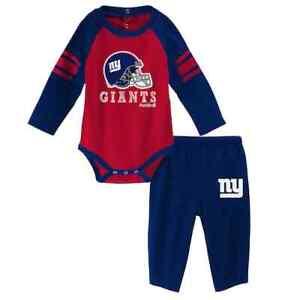 New York Giants NFL Future Starter Bodysuit & Pants Set, Size 0/3 Months - NWT