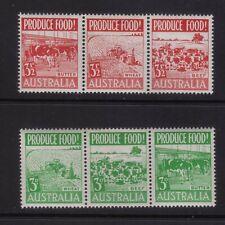 stamps Australia Set Sc#250-255 in strips of3