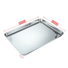 Baking Sheet Mat Stainless Steel Oven Bakeware Non Stick Pan Cookie Kitchen Tray