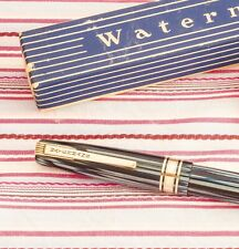 VINTAGE WATERMAN'S W5 EXECUTIVE BLUE STRIPED DELUXE FOUNTAIN PEN BOXED+GUARANTEE