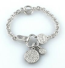 Circle Of Love Made With Swarovski Crystal New Three Cute Elegant Bracelet