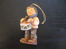 1999 Berta Hummel Boy Drummer Christmas Tree Ornament Porcelain Goebel Figurine
