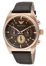 Emporio Armani Classic Watch Brown/Rose Gold Quartz Analog Men's Watch AR0371