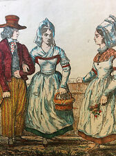 Costumes de Nantes et Blain loire-atlantique estampe première moitié XIXe .