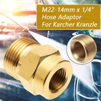 "1/4"" Female x M22 Male Pressure Washer Lance Adapter Brass For Karcher Kranzler"