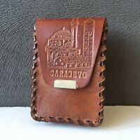Vintage Brown Leather Cigarette Case Holder Sarajevo