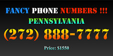 New listing Fancy Phone Numbers ! Pennsylvania (272) 888-7777