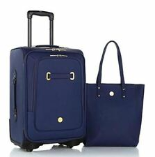 Joy Rich Leather Complete luggage set with XL and Carry On Dresser - NAVY