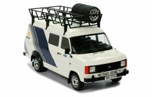 IXO 1:18 FORD TRANSIT MK2 TEAM FORD RALLY WITH ROOF ACCESSORIES 18RMC058XE20