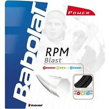 2 x BABOLAT RPM BLAST Tennis Stringa - 1.25mm/17g - 12m-Nero-GRATIS UK P & P