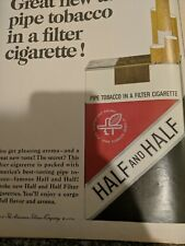 1965 Half and Half Pipe Tobacco in a Filter Cigarette Vintage Print Ad