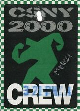CSNY 2000 Looking Forward Concert Tour Backstage Pass!! Authentic Original stage