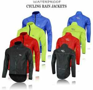 CYCLING JACKET HI VIZ HIGHLY VISIBLE WINDPROOF WATERPROOF BREATHABLE WALKING RUN