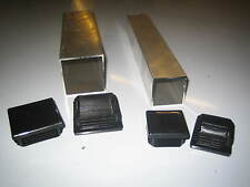 Aluminium Box Square Tube Section with Plastic End Caps Various Sizes Available