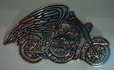 Hard Rock Cafe NEW YORK 1995 BIKE NIGHT PIN Silver MOTORCYCLE w/Wings HRC #6497