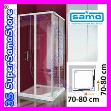 3S BOX DOCCIA SAMO modello CIAO in CRISTALLO per PIATTO QUADRO QUADRATO 70-80 cm