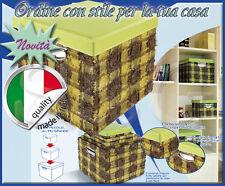 5 Boîtes Matryoshka Cuir Éco Stoff Encombrant Stockage Madeinitaly Coloré