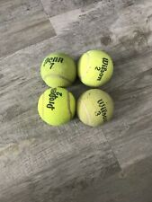 4 used Tennis Balls - Dog Toys, Baseball, Walker Feet Penn Wilson
