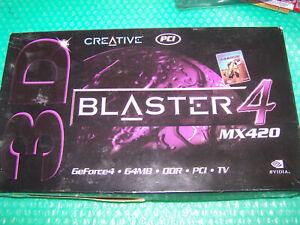 Retro Creative Labs 3D Blaster 4 NVIDIA GeForce4 MX420 64MB PCI Graphics, Boxed