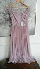 Elegant ABRIELLE MAUVE Lindy Bop Dress size 12 Rare Rrp silver Screen