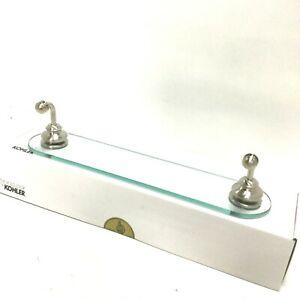 KOHLER K-12158-BN Fairfax Glass Shelf, Vibrant Brushed Nickel, 22 Inch