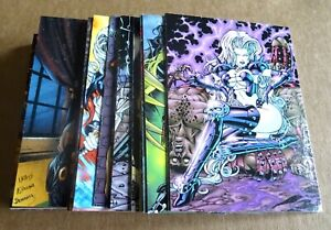 """MULTI-LIST OF LADY DEATH AND THE WOMEN OF CHAOS TRADING CARDS; """"SINGLE CARDS"""""""