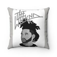 The WEEKND grey Spun Polyester Square Pillow