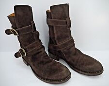 FIORENTINI + BAKER brown suede 2-strap eternity boots size 37