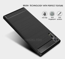 For Sony Xperia XZ Carbon Fibre Gel Case Cover Brushed Shockproof Hybrid
